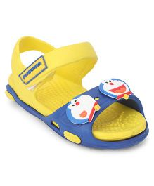 Doraemon Sandals With Back Strap & Velcro Closure - Yellow