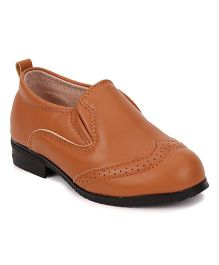Cute Walk by Babyhug Party Wear Shoes - Camel Brown