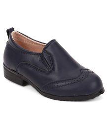 Cute Walk by Babyhug Party Wear Shoes - Dark Blue
