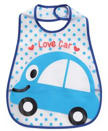Babyhug Bib Car Print - Blue White