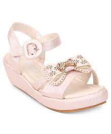 Cute Walk by Babyhug Sandal Studded Bow Buckle Closure - Pink