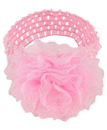 Baby Angel Lace Flower Headband For Girl - Pink