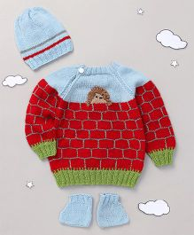 The Original Knit Sweater Set With Cap & Socks - Multicoloured