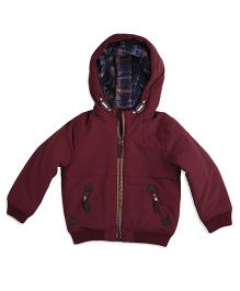 Mothercare Long Sleeves Hooded Jacket - Maroon