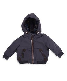 Mothercare Long Sleeves Hooded Jacket - Dark Grey