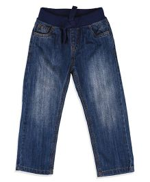 Mothercare Jeans With Drawstring - Blue
