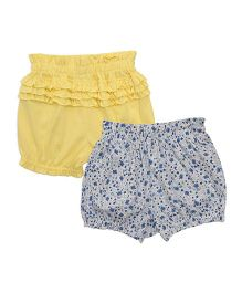 Mothercare Bloomers Pack of 2 - White Yellow