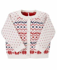 Mothercare Full Sleeves Cardigan - White