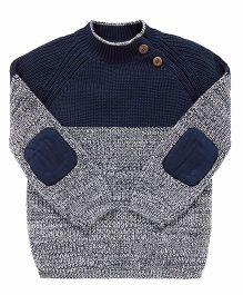 Mothercare Full Sleeves Sweater - Navy Blue White