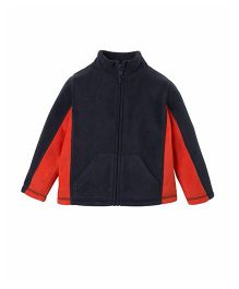 Mothercare Full Sleeves Turtle Neck Zippered Jacket - Navy