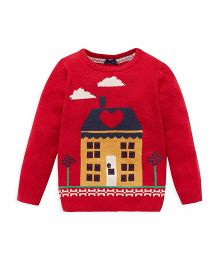 Mothercare Full Sleeves Sweater House Design - Red