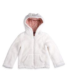 Mothercare Long Sleeves Hooded Jacket - White