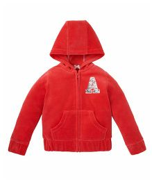 Mothercare Long Sleeves Hooded Jacket - Red