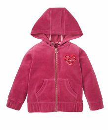 Mothercare Long Sleeves Hooded Jacket - Pink