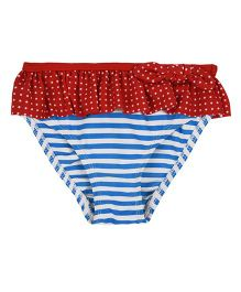 Mothercare Swim Wear Stripes Print - Red Blue