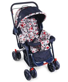 Mee Mee Pram Cum Stroller MM 22C 62 - Navy Red