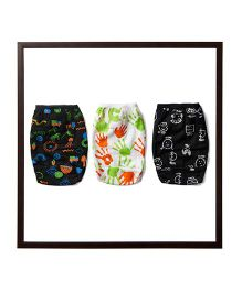 Plan B Set Of 3 Earth Without Art Is Just Plain Eh Theme Girls Underwear - Black & White