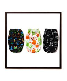 Plan B Set Of 3 Earth Without Art Is Just Plain Eh Theme Boys Underwear - Black & White