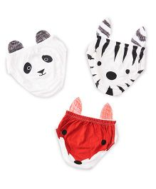 Plan B Set Of 3 The Junglees Theme Boys Underwear - White