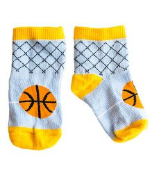 Plan B Pair Of Basketball Theme Socks - Blue & Yellow