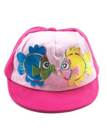 Kidofash Fish Design Cap - Dark Pink