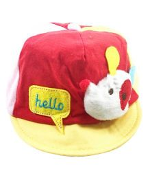 Kidofash Teddy Printed Cap - Yellow