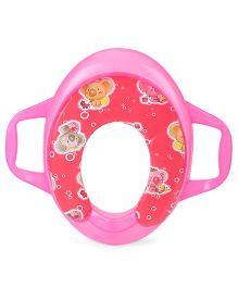 Sunbaby Potty Seat With Handles Koala Print - Pink Red