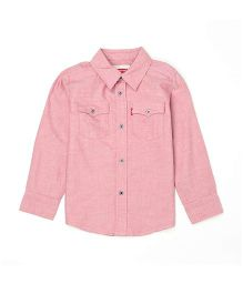 Levi's Full Sleeves Solid Shirt - Pink