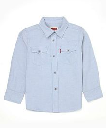 Levi's Full Sleeves Solid Shirt - Blue
