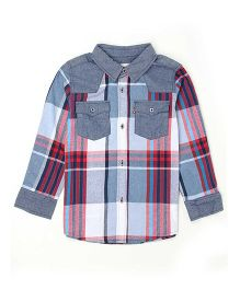 Levi's Full Sleeves Checks Shirt - Red Grey
