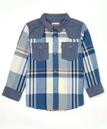 Levi's Full Sleeves Checks Shirt - Blue Grey