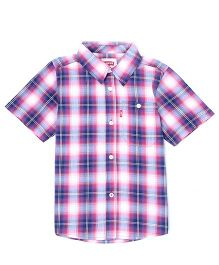 Levi's Half Sleeves Checks Shirt - Multi Color