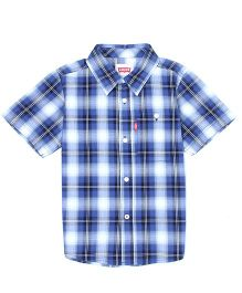 Levi's Half Sleeves Checks Shirt - Blue