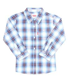 Levi's Full Sleeves Checks Shirt - Blue White