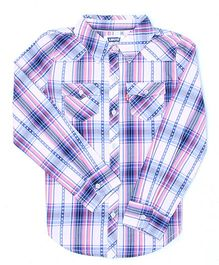Levi's Full Sleeves Checks Shirt - Blue Pink White