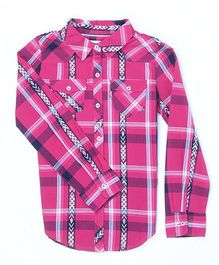 Levi's Full Sleeves Checks Shirt - Pink