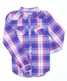 Levi's Full Sleeves Checks Shirt - Blue