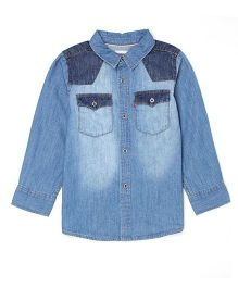 Levi's Full Sleeves Denim Shirt - Blue