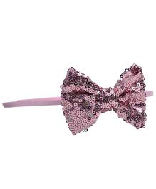 Little Miss Cuttie Sequenced Bow Hair Band - Pink