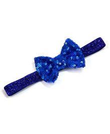 Little Miss Cuttie Sequenced Bow Headband - Blue