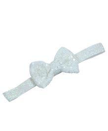 Little Miss Cuttie Sequenced Bow Headband - White