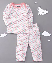 Spring Bunny Printed Night Suit - Multicolor