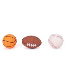 Ratnas Squeaky Bath Toy Sports Ball Pack of 3 - Multicolor
