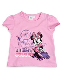 Mothercare Short Sleeves Top Minnie Mouse Print - Pink
