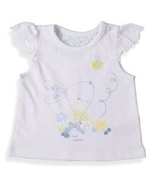 Mothercare Short Sleeves Top Bunny Print - White