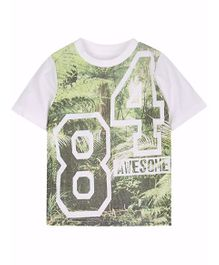 Mothercare Half Sleeves T-shirt 84 Print - White
