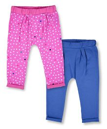 Mothercare Full Length Leggings Set of 2 - Blue Pink