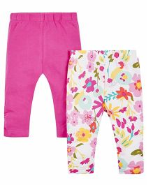 Mothercare Full Length Leggings Set of 2 - Pink White