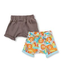 Mothercare Shorts Pack Of 2 - Grey Multicolor