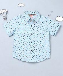 Hugsntugs Star Print Shirt - Sky Blue